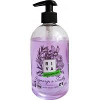 Riva tekuté mýdlo antibakteriální s dávkovačem Rozmarýn & Fialky 500g