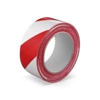 Lepicí páska s tkaninou 50mm 33m červeno-bílá 67201