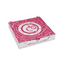 Pizza krabice z vlnité lepenky 20x20x3cm/100ks 71920