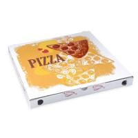 Pizza krabice z vlnité lepenky 34x34x3,5cm/100ks 71934