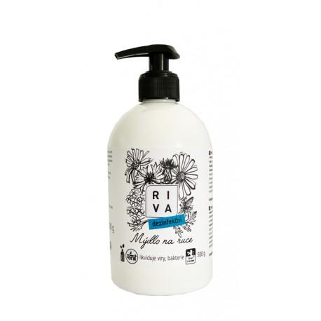 Riva tekuté mýdlo dezinfekční s dávkovačem 500g