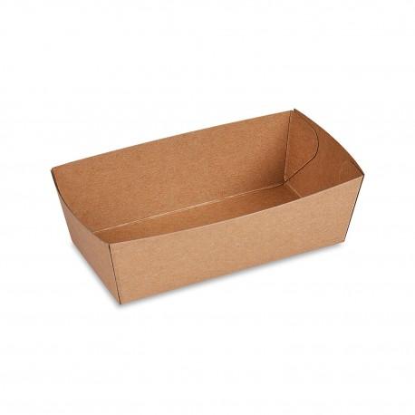 Hnědá papírová miska hluboká 13,5x7x4,5cm/250ks 48330