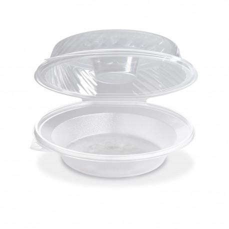 Salátová miska kulatá s víčkem 1600ml/25ks PP820