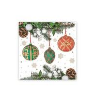Ubrousky 33x33cm 3-vrstvé Vánoce/20ks 84032