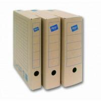 Archivní box natur 75mm hnědý