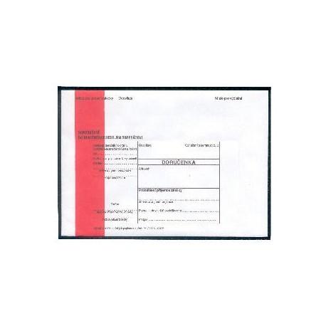 Obálky-doručenky C5 červený pruh/50ks VÝPRODEJ