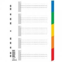 Kartonové rozlišovače A4 Spoko 0431 5 barev