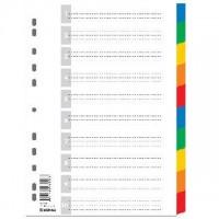 Kartonové rozlišovače A4 Spoko 0432 2x5 barev
