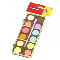 Vodové barvy 22mm malé 12 barev 9541