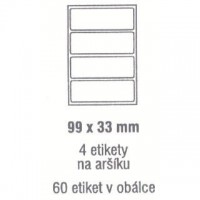 Etikety 99x33mm /60ks