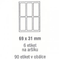 Etikety 69x31mm /90ks