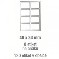Etikety 48x33mm /120ks
