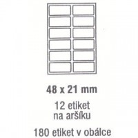 Etikety 48x21mm /180ks