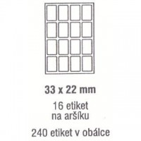 Etikety 33x22mm /240ks