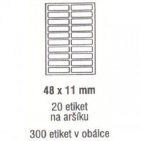 Etikety 48x11mm /300ks