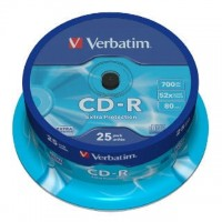 CD-R verbatim 700MB/25ks