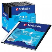 CD-R verbatim 700mb krabička slim