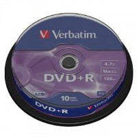 DVD+R verbatim 4,7GB/10ks