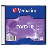 DVD+R verbatim 4,7GB/krabička slim