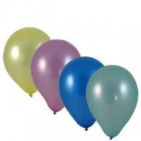 """Balónky nafukovací """"M"""" metalický mix barev/100ks 53499"""