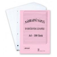 Náplň do záznamníku A4 čtvereček/100 listů