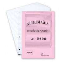 Náplň do záznamníku A4 čtverečkovaná/100 listů