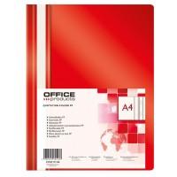Desky A4 s rychlovazačem Office Products červené/25ks