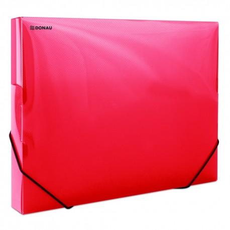 Box A4 s uzavíratelnou gumičkou Donau 3cm červený