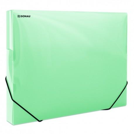 Box A4 s uzavíratelnou gumičkou Donau 3cm zelený