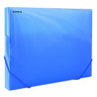 Box A4 s uzavíratelnou gumičkou Donau 3cm modrý