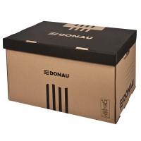 Archivační krabice s víkem pro boxy Donau hnědá