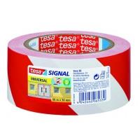 Lepicí páska Tesa 50mm 66m červeno-bílá