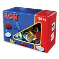 Připínáčky barevné RON 224 10mm/100ks