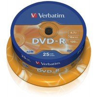 DVD-R verbatim 4,7GB/25ks