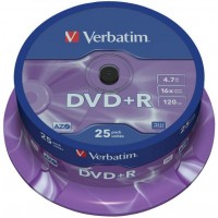 DVD+R verbatim 4,7GB/25ks