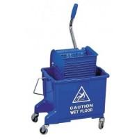 Úklidový vozík s 2 kbelíky a ždímačem