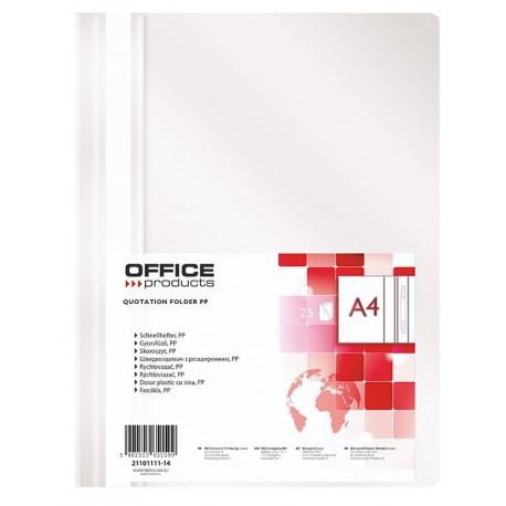 Desky A4 s rychlovazačem Office Products bílé/25ks
