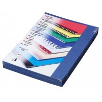 Kartonové desky pro vazbu A4 modrá kůže /100ks