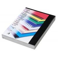 Kartonové desky pro vazbu A4 černá lesklá /100ks