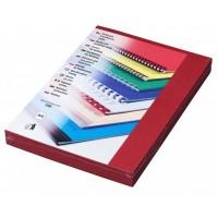 Kartonové desky pro vazbu A3 červená kůže /100ks