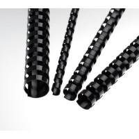 Plastové hřbety A4 pro vazbu 19mm černé/100ks