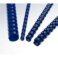 Plastové hřbety A4 pro vazbu 19mm modré/100ks