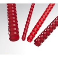 Plastové hřbety A4 pro vazbu 19mm červené/100ks