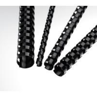 Plastové hřbety A4 pro vazbu 6mm černé/200ks