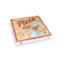 Pizza krabice z vlnité lepenky 29,5x29,5x3cm/100ks 71930