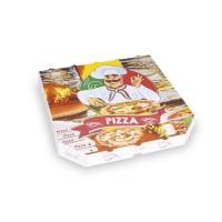 Pizza krabice z vlnité lepenky 30x30x3cm/100ks 72030