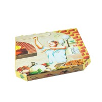 Pizza krabice z vlnité lepenky 32x32x3cm/100ks 72032