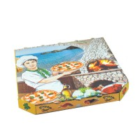 Pizza krabice z vlnité lepenky 33x33x3cm/100ks 72033