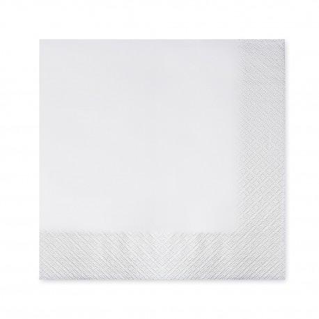 Ubrousky 40x40cm 2-vrstvé bílé/50ks 70400