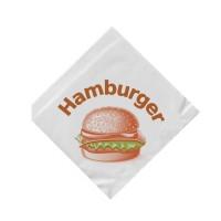 "Papírové sáčky ""L"" na hamburger 16x16cm bílé/500ks 71540"